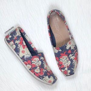 TOMS floral print shoes